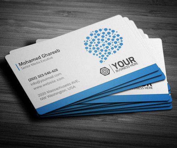 Business Card social Media Creative social Media Business Card On Behance