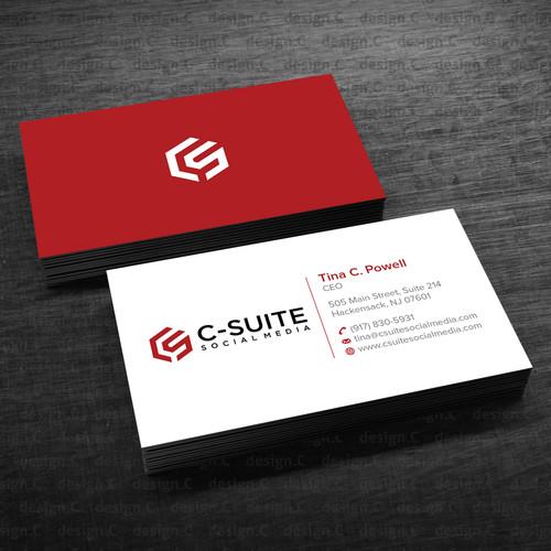 Business Card social Media Design A Modern Business Card for C Suite social Media