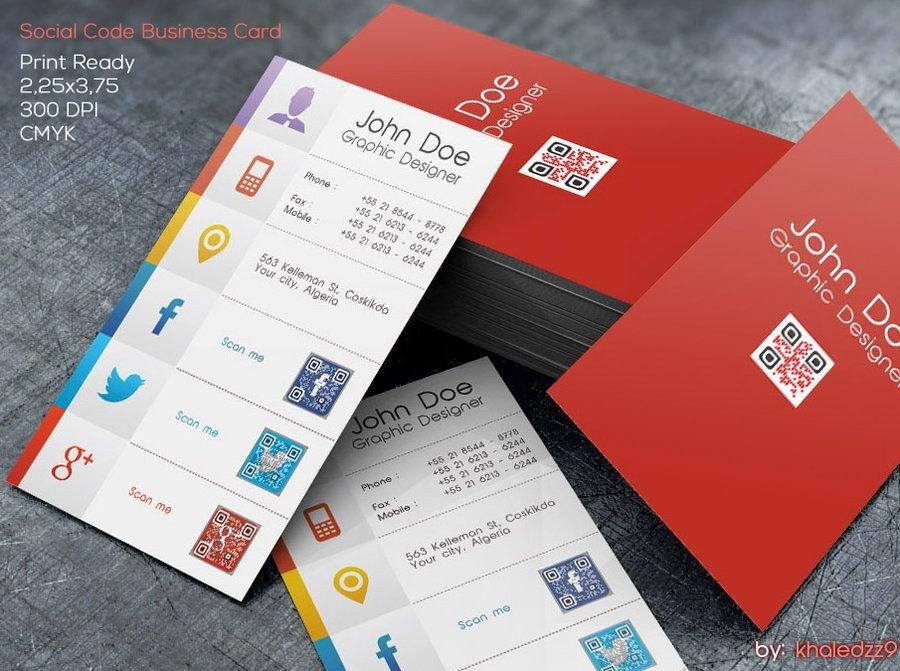 Business Card social Media social Code Business Card by Khaledzz9viantart On