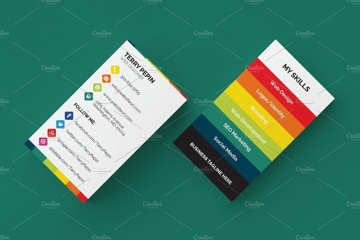 Business Card social Media social Media Business Card 61 Business Card Templates