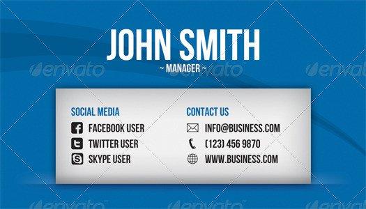 Business Card social Media social Media Business Card by Artnook