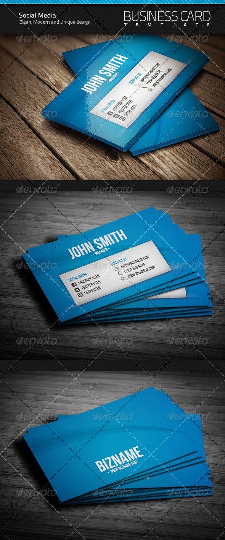 Business Card social Media social Media Business Card