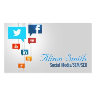 Business Card social Media social Media Business Cards & Templates