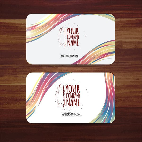 Business Card Template Illustrator Business Card Template Vector Illustration with Colorful
