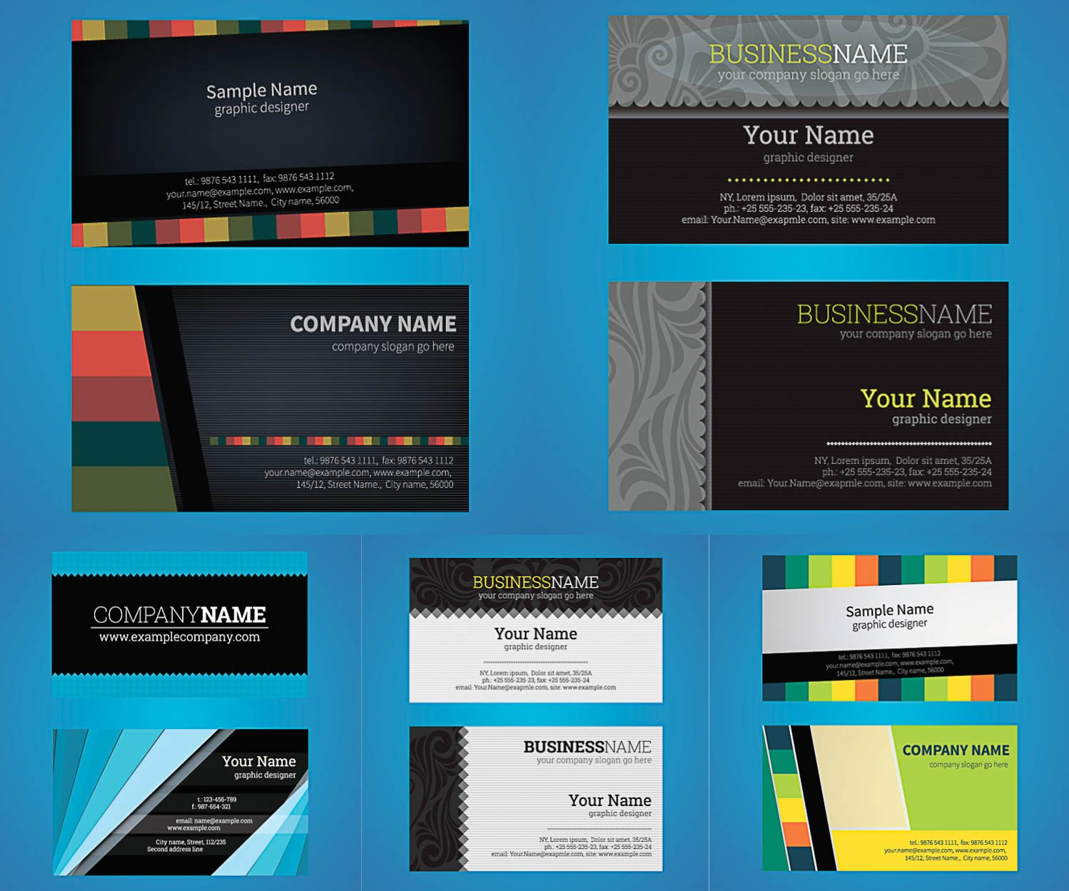 Business Card Template Illustrator Business Vector Graphics Art Free Design Ai