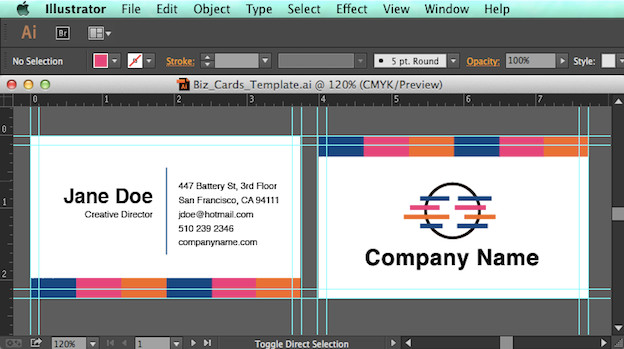 Business Card Template Illustrator Create An Editable Pdf Business Card Design Template In 7