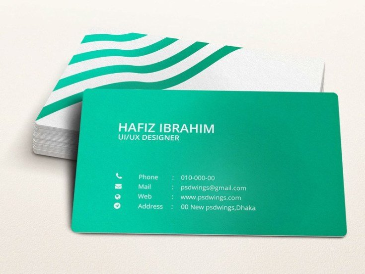 Business Card Template Illustrator Green Illustrator Business Card Template Free Download