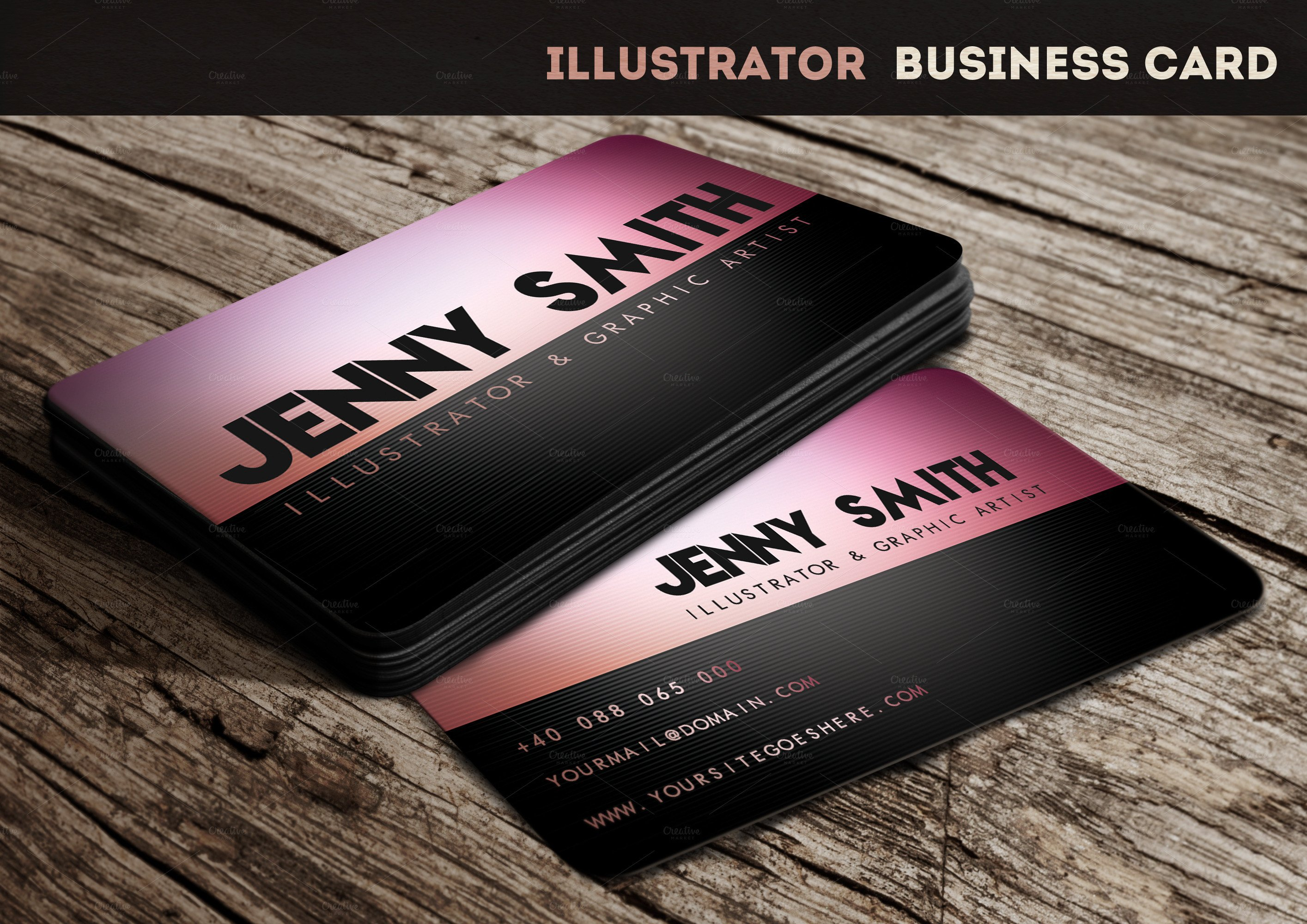Business Card Template Illustrator Illustrator Business Card Business Card Templates On