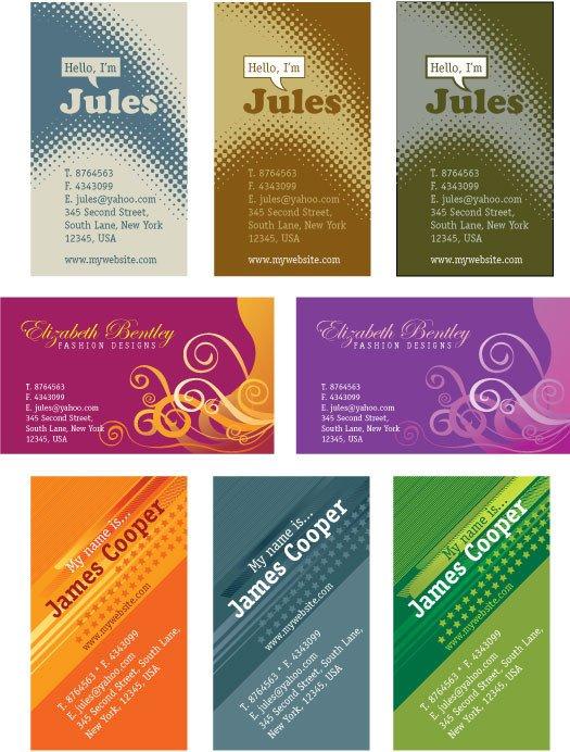 Business Card Template Illustrator Templates Kartu Nama Ai