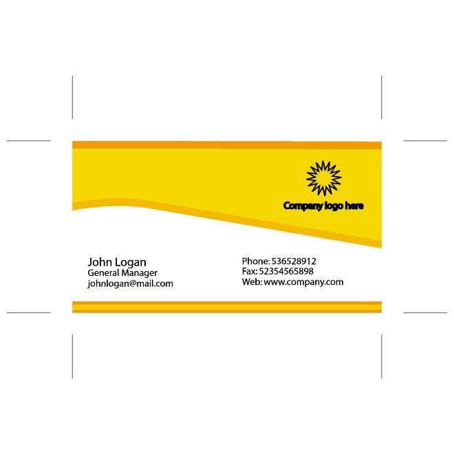 Business Card Template Illustrator Yellow Business Card Illustrator Template Download at