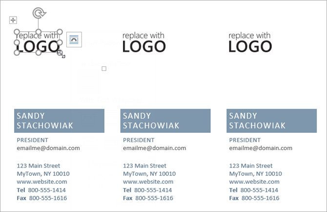 Business Card Template Microsoft Word How to Make Free Business Cards In Microsoft Word with