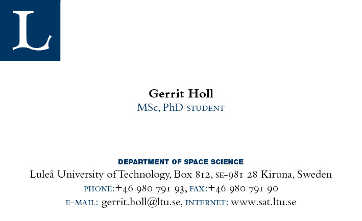 Business Cards for Students Conference Business Cards for Graduate Students