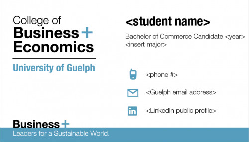Business Cards for Students ordering Business Cards