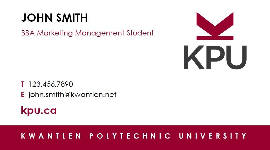 Business Cards for Students Print Shop Services