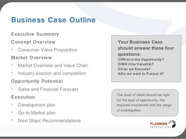 Business Case Template Ppt Business Case Template