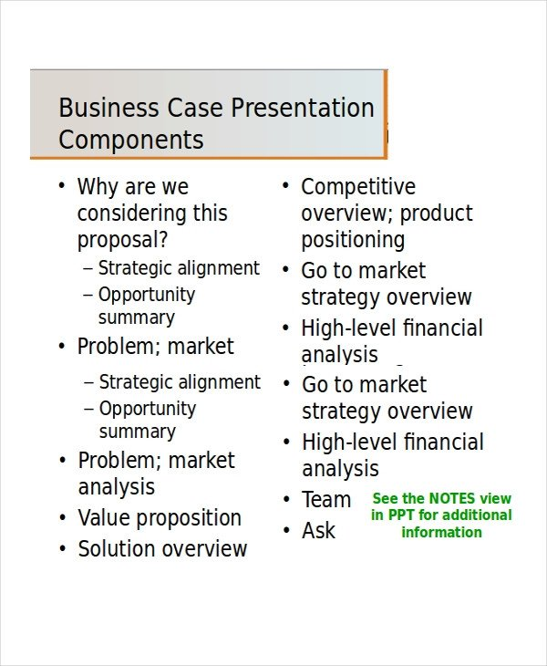 Business Case Template Ppt Business Presentation Template 5 Free Ppt Document