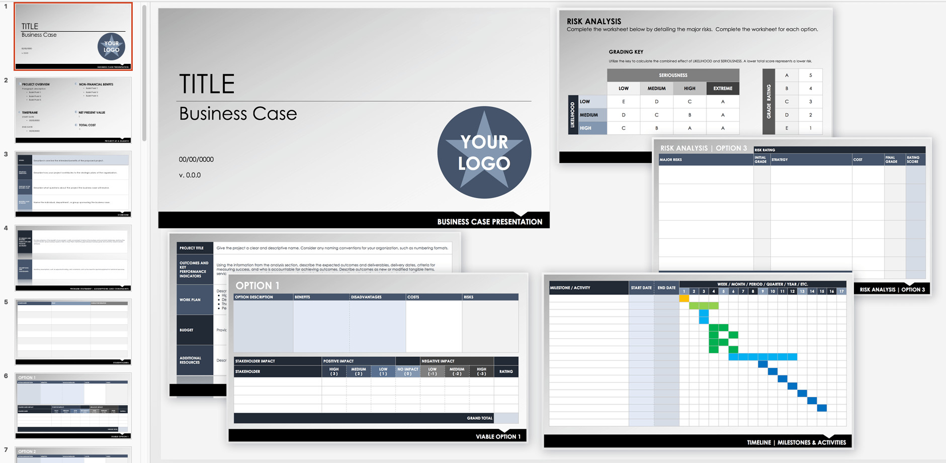 Business Case Template Ppt Free Business Case Templates