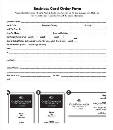 Business forms Templates Free Business form Template 9 Free Pdf Documents Download