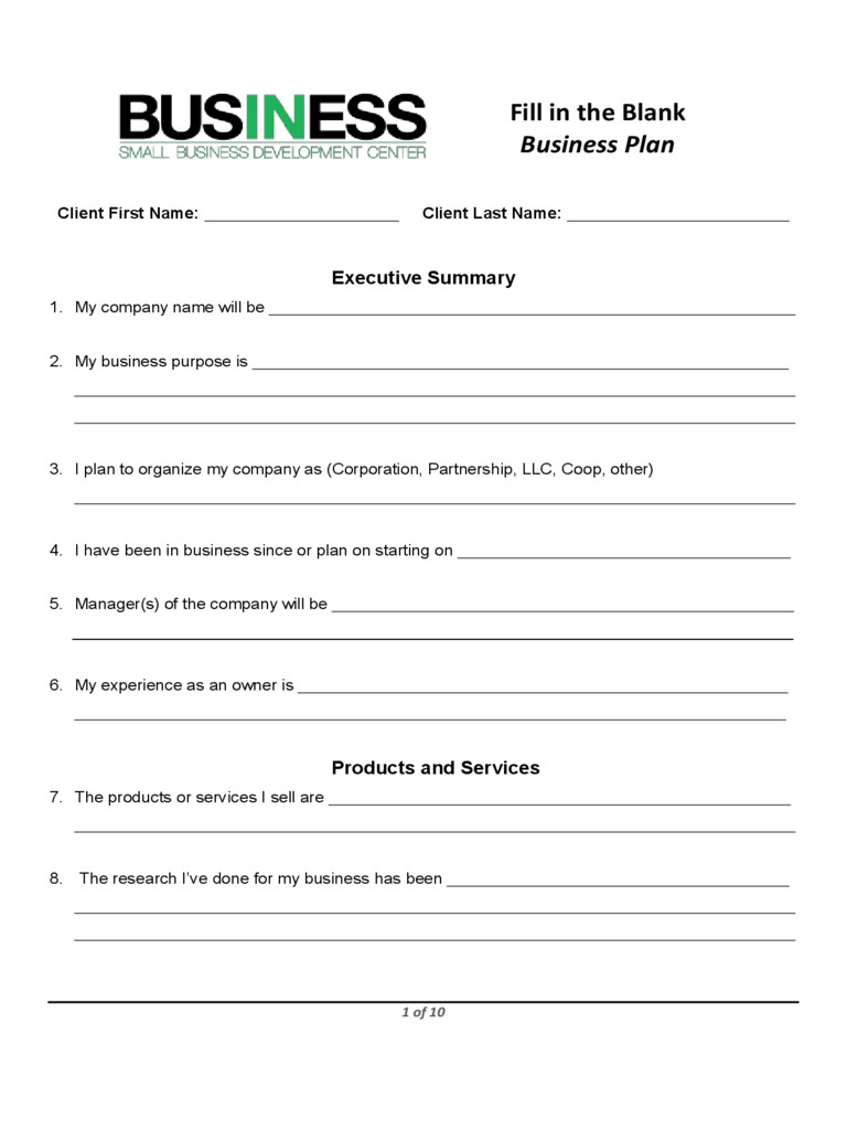 Business forms Templates Free Business Plan Template Proposal Sample
