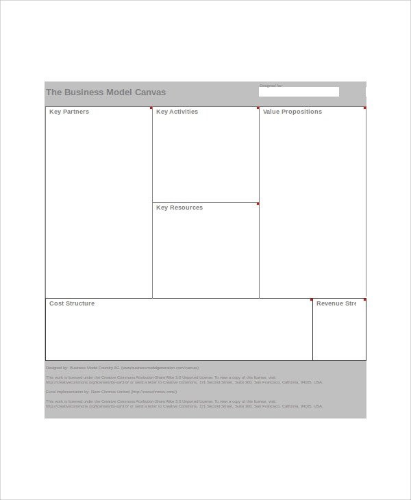 Business Model Canvas Template Excel Excel Business Template 5 Free Excel Documents Download