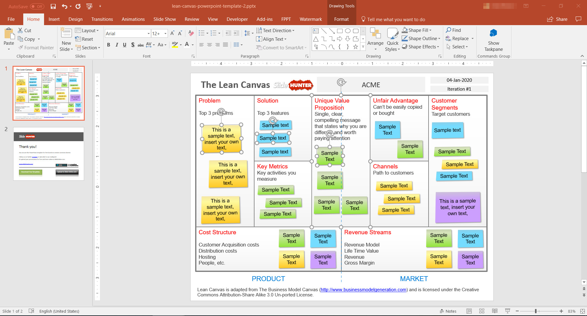 Business Model Canvas Template Ppt 5 Best Editable Business Canvas Templates for Powerpoint