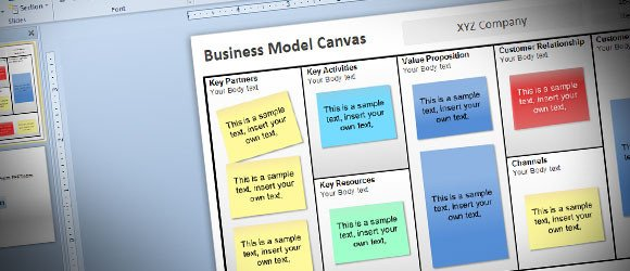 Business Model Canvas Template Ppt Free Business Model Canvas Template for Powerpoint 2010