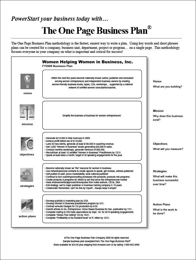Business One Sheet Template E Page Business Plan Template 4 Free Word Pdf
