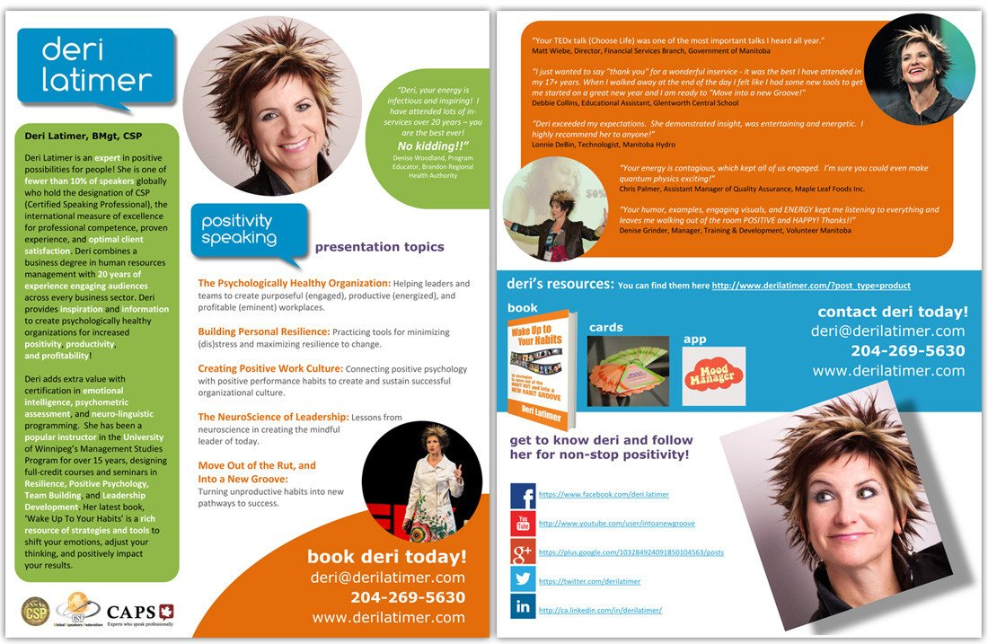 Business One Sheet Template How to Create A Speaker E Sheet the Happy Self Publisher
