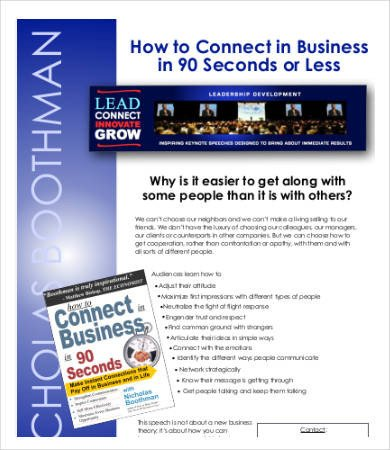 Business One Sheet Template How to Write A Business One Pager