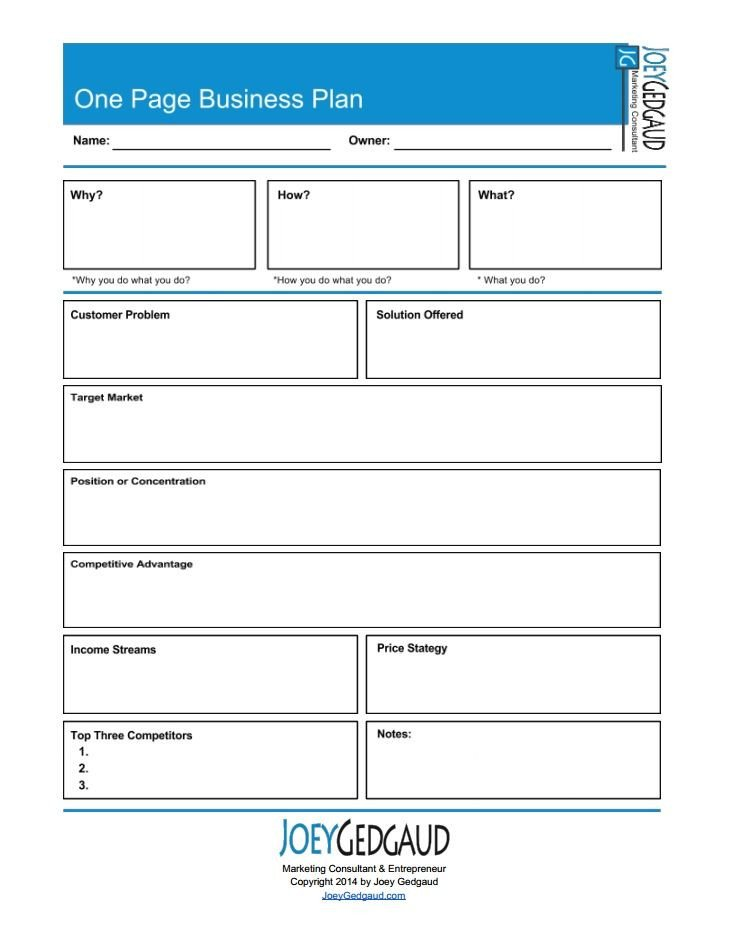 Business One Sheet Template One Page Business Templates and Free S