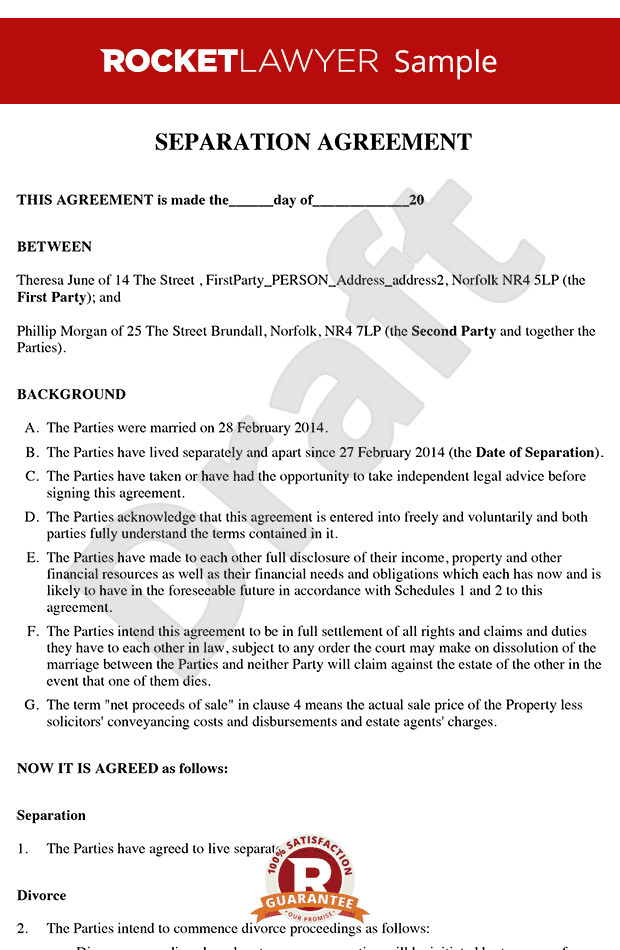 Business Partnership Separation Agreement Template Free Separation Agreement Template Line