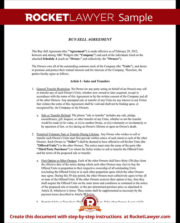 Buy Sell Agreements forms Buy Sell Agreement form Sample Buy Sell Agreement Template