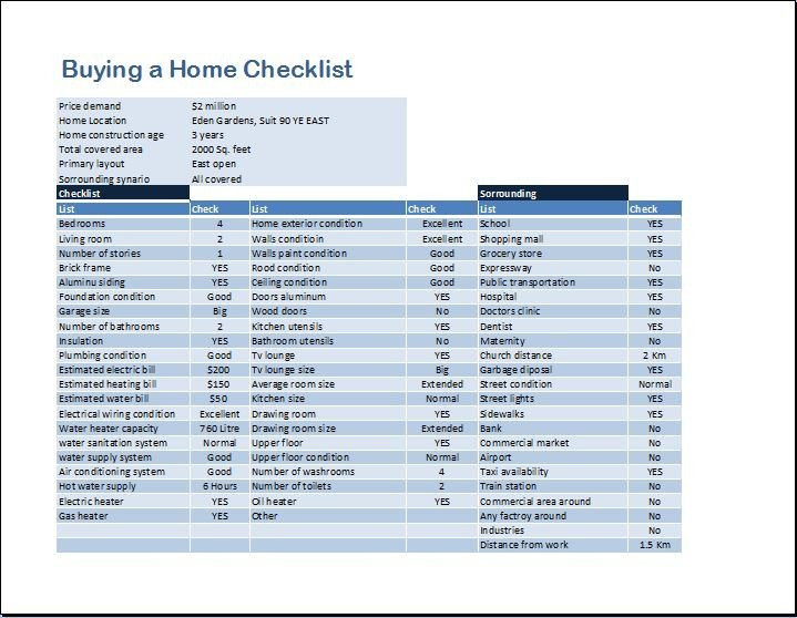 Buying A House Checklist Template Buying A Home Checklist Template for Ms Word