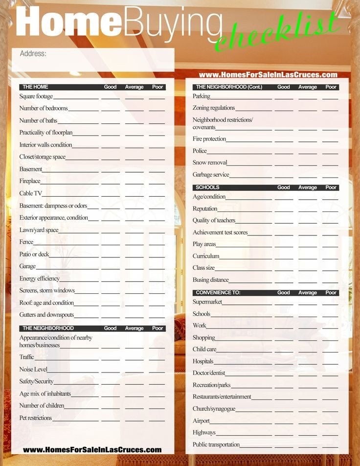 Buying A House Checklist Template Home Buying Checklist …