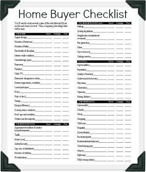 Buying A House Checklist Template Your Hud Home Buying Scorecard