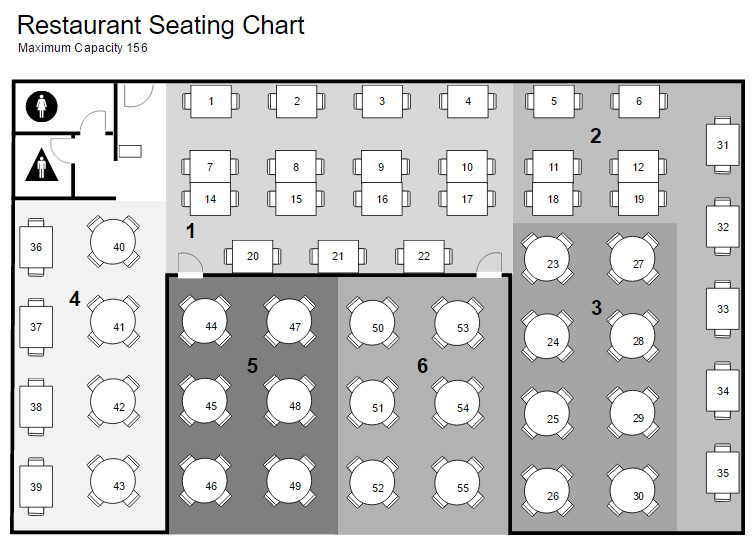 Cafeteria Seating Chart Template Restaurant Floor Plan Maker