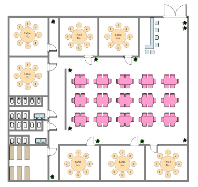 Cafeteria Seating Chart Template Restaurant Seat Plan