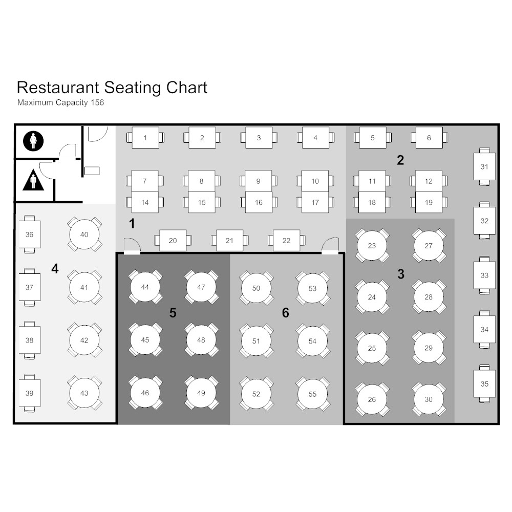 Cafeteria Seating Chart Template Restaurant Seating Chart