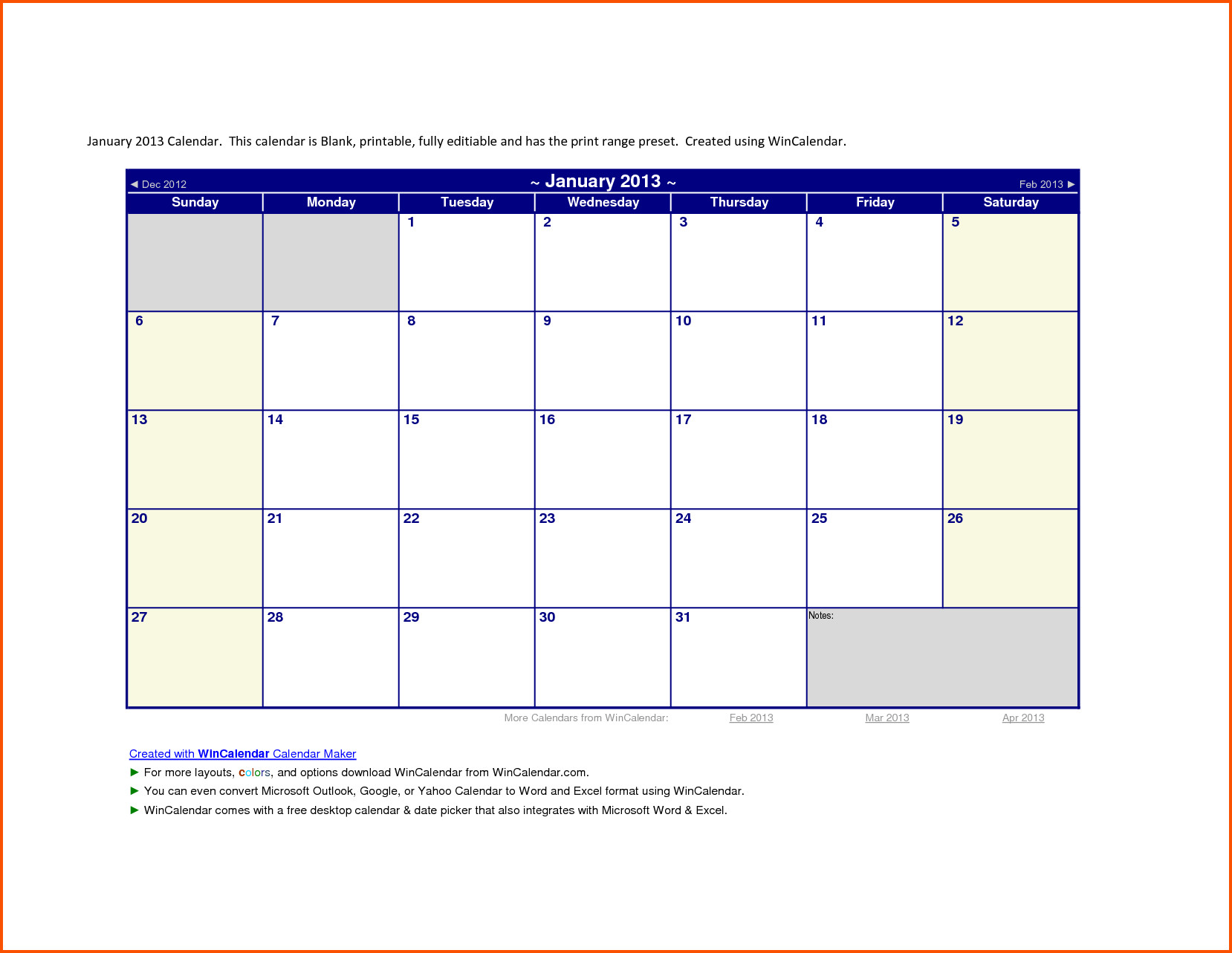 Calendar Template for Word 2013 Calendar Template Word