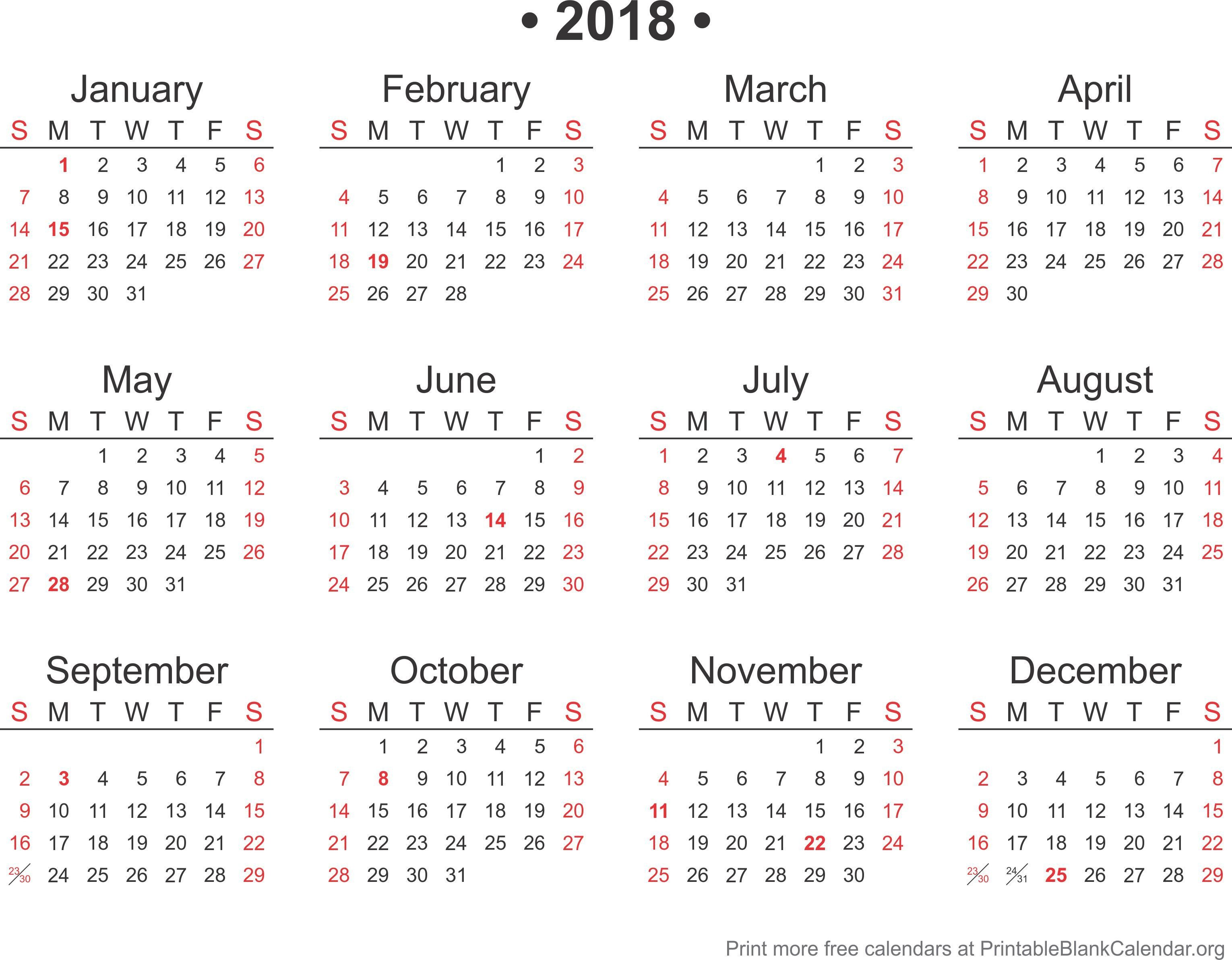 Calendar Template for Word 2018 Calendar Word format Template