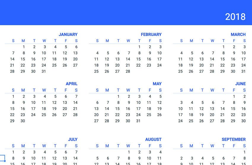 Calendar Template Google Sheets 20 Free Google Sheets Business Templates to Use In 2018
