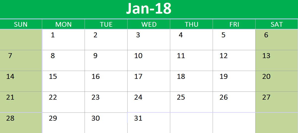 Calendar Template Google Sheets 2018 Calendar Google Sheets Printable Templates