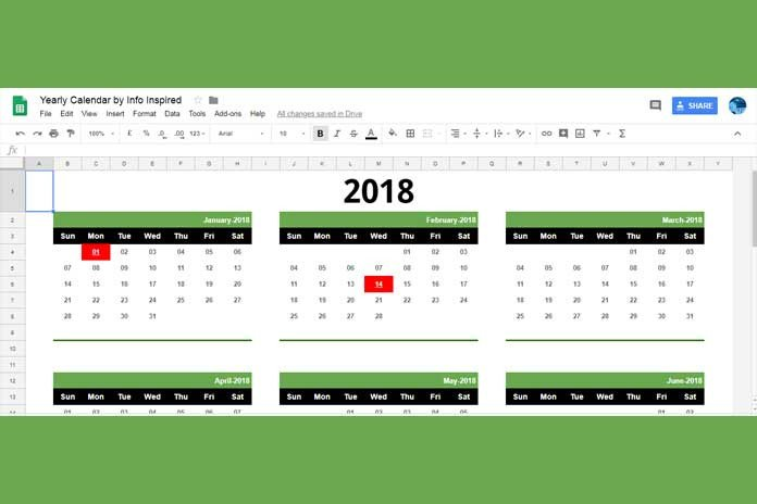 Calendar Template Google Sheets Free Google Sheets Calendar Template Download and How to