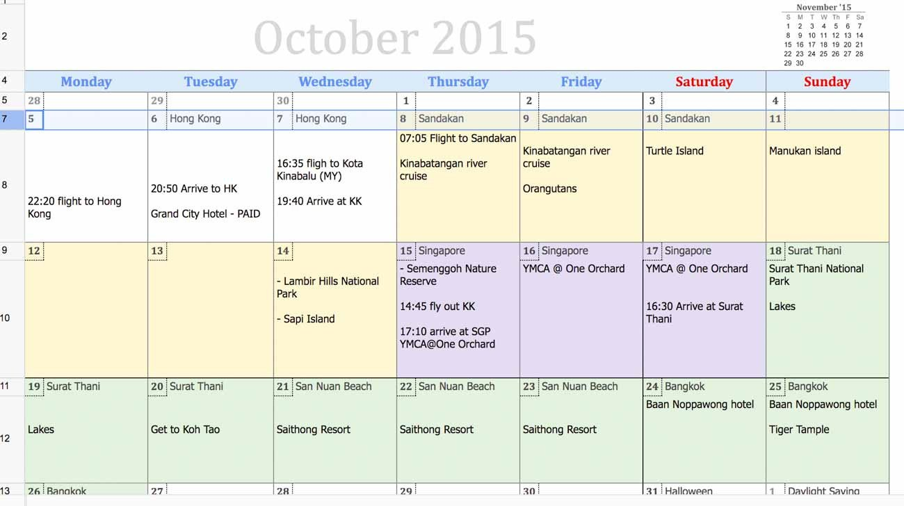 Calendar Template Google Sheets tools I Use to Plan My Trips Travel Monkey