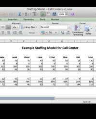 Call Center Staffing Model Template Call Center Staffing Model Excel Models