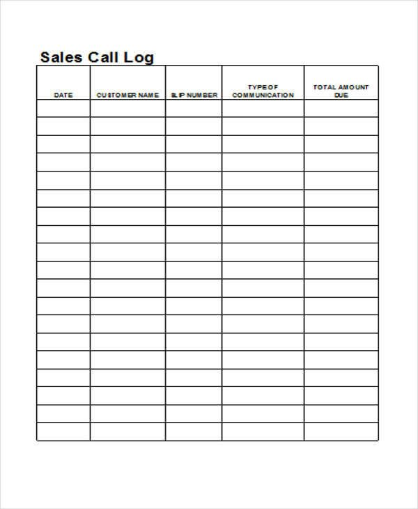 Call Log Template Excel 28 Log Templates In Excel