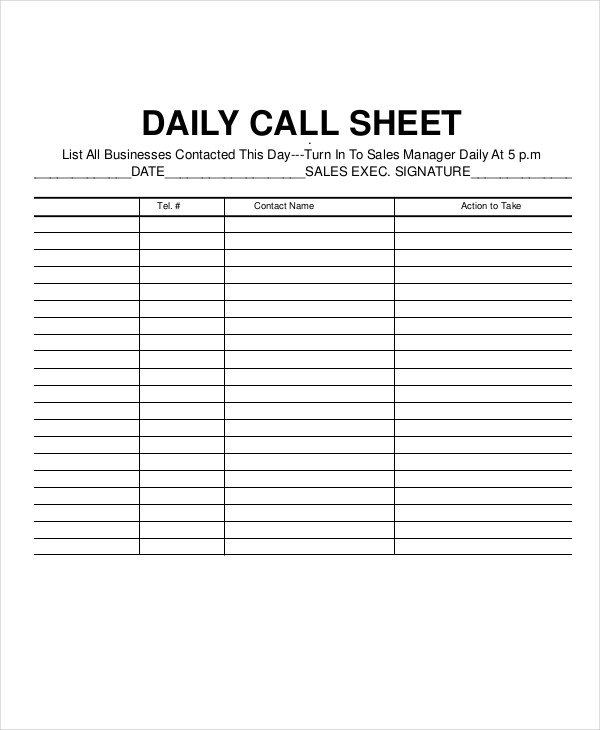 Call Log Template Excel Call Log Sheet Template 11 Free Word Pdf Excel