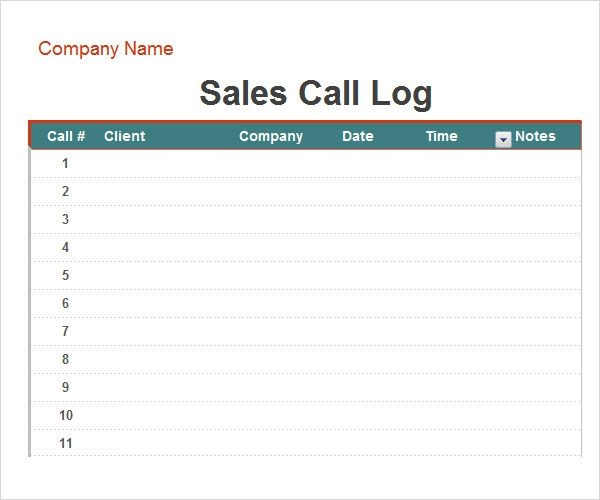 Call Log Template Excel Call Log Template 11 Download Free Documents In Pdf Word