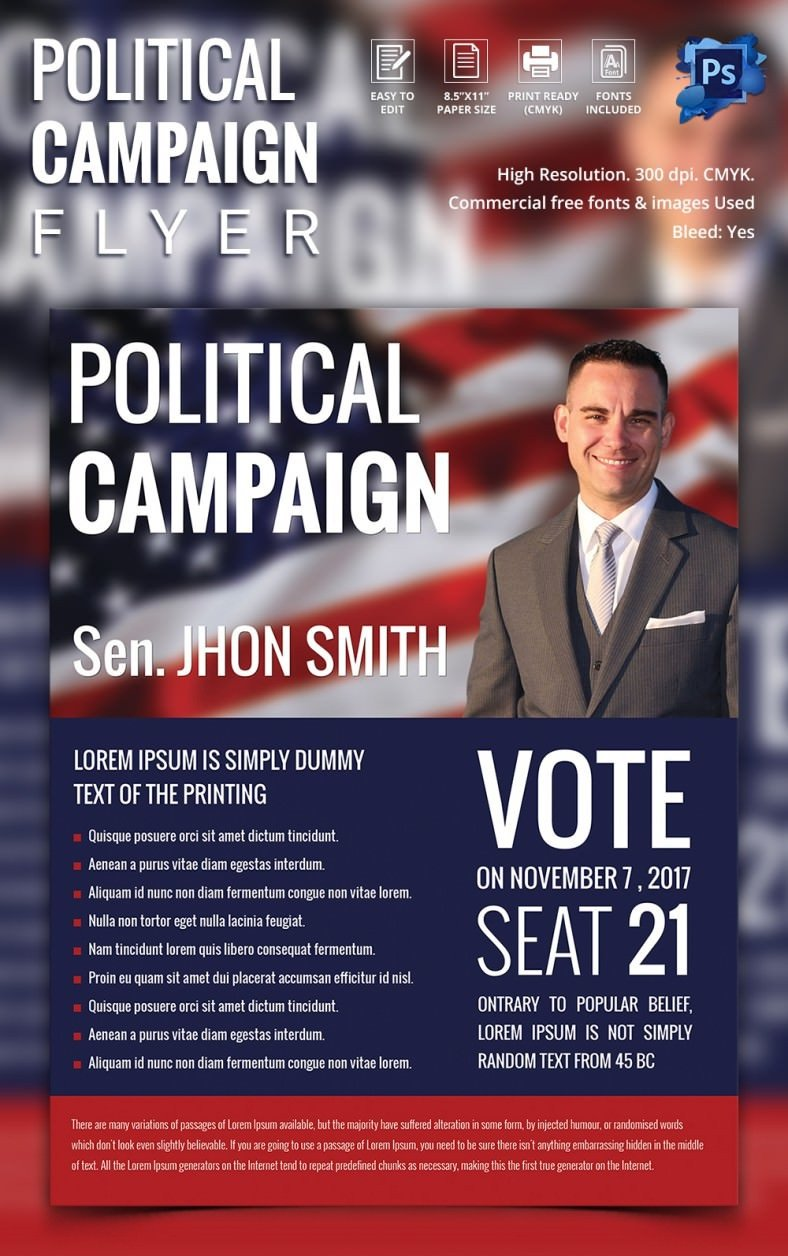 Campaign Poster Template Free Campaign Flyers – 31 Free Psd Ai Vector Eps format