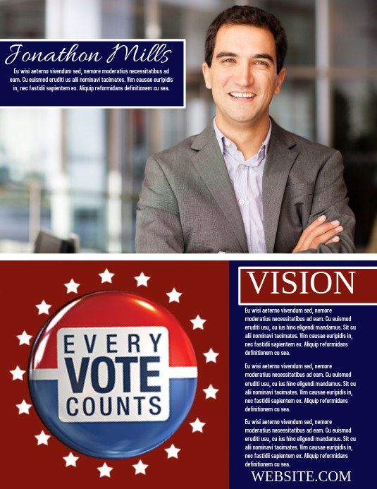 Campaign Poster Template Free Campaign Template